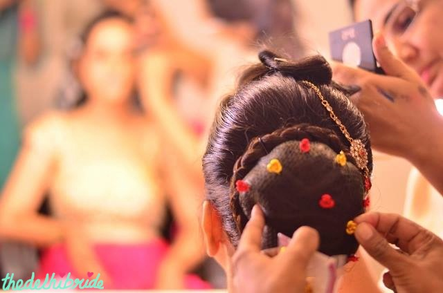 The intricate wedding hairstyle
