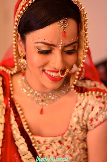 The beautiful bride on her wedding day!