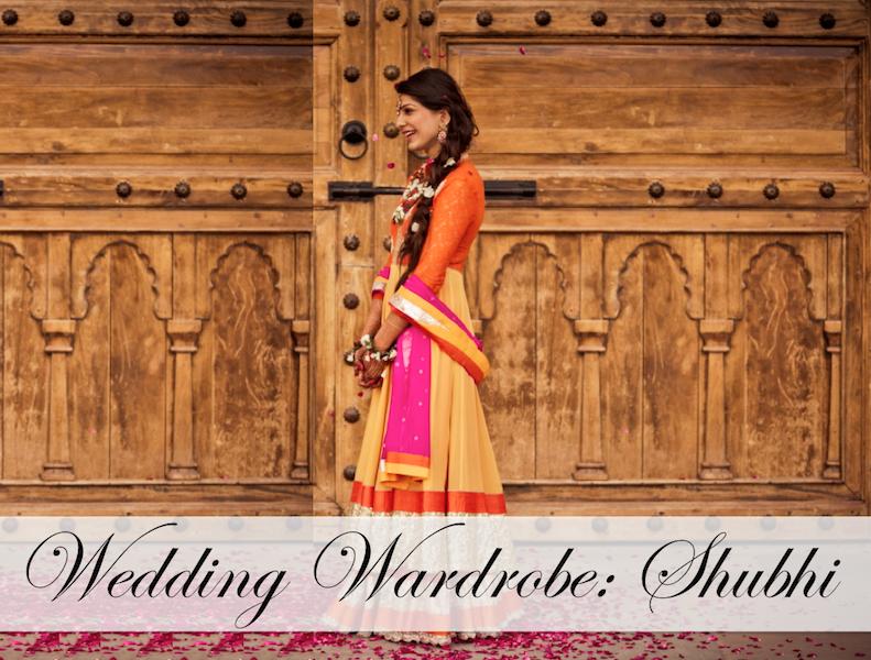 wedding wardrobe shubhi cover photo kavita vanita mehendi anarkali lehenga
