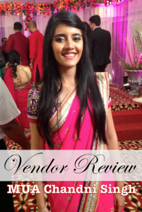 Cover Photo Chandni Singh bridal makeup artist review