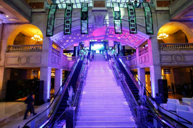 stairs as ramp at trousseau week 2013 ub city