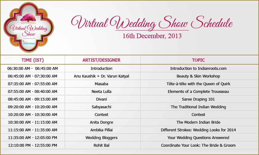 Virtual Wedding Show Special Access Exclusively For TDB Readers An Indian Blog