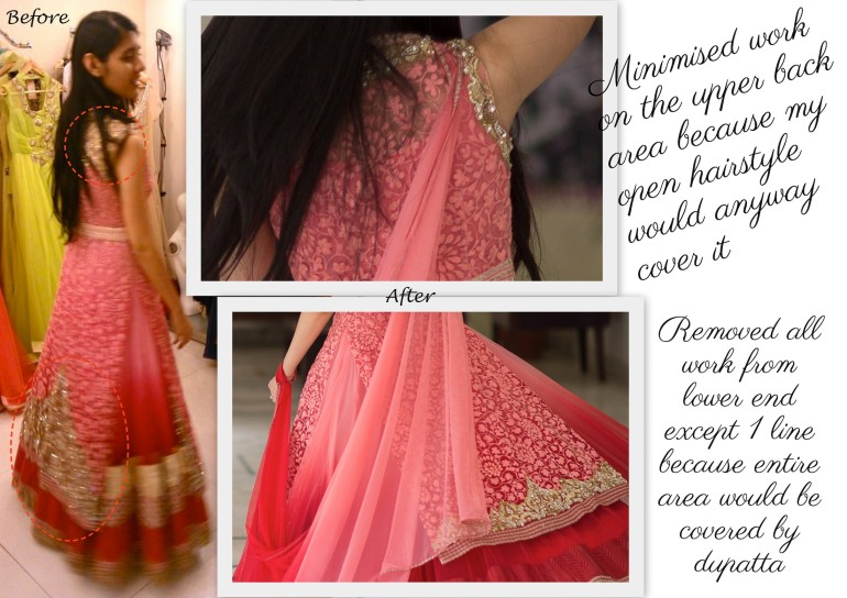 how to reduce cost of my lehenga back 1