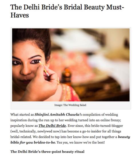 bridal beauty must-haves thedelhibride Shinjini Amitabh Chawla