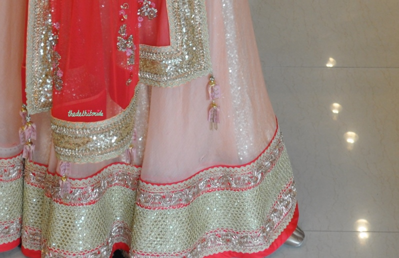 Madsam Tinzin Summer 2014 collection preview baby pink sequinned lehenga