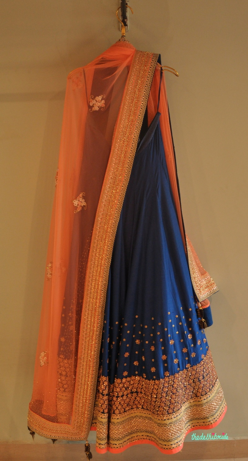Madsam Tinzin Summer 2014 collection preview blue lehenga