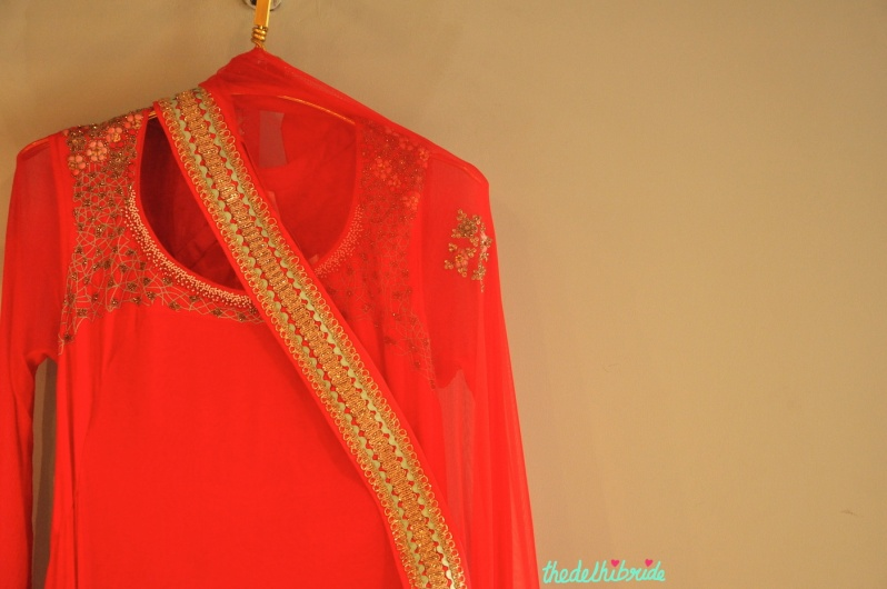Madsam Tinzin Summer 2014 collection preview coral anarkali