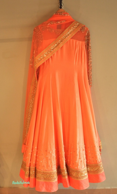Madsam Tinzin Summer 2014 collection preview peach anarkali