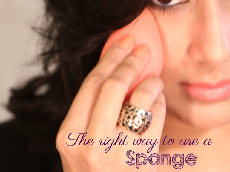 right way to use sponge