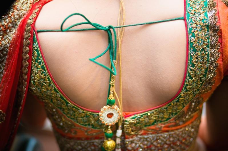 blouse back Sumedha wedding wardrobe