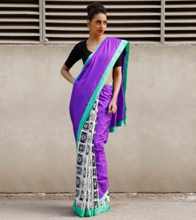 Masaba Gupta camera print sari IndianRoots