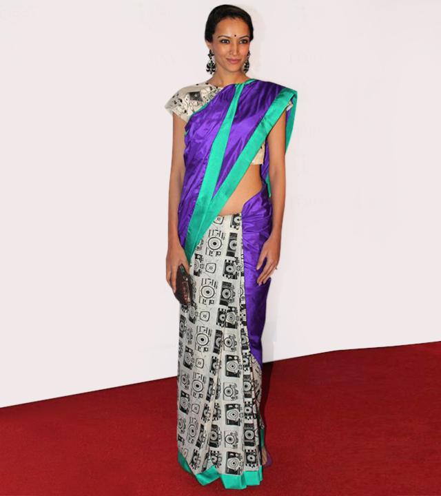 Masaba Gupta camera print sari