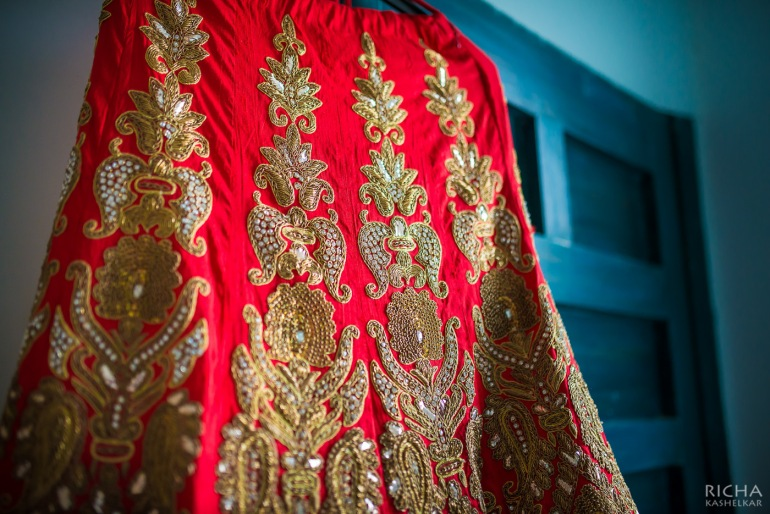 wedding lehenga artistic shot details 2 Sumedha wedding wardrobe