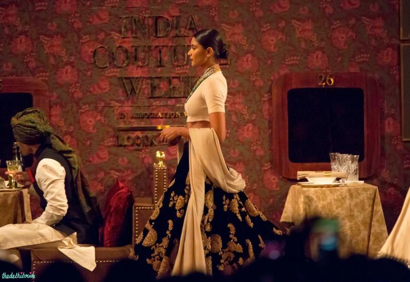 Black velvet lehenga 2 Sabyasachi India Couture Week 2014