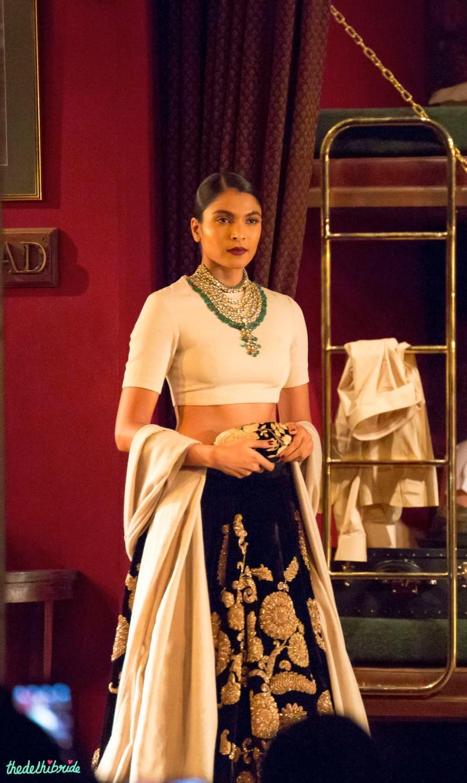 Black velvet lehenga 3 Sabyasachi India Couture Week 2014