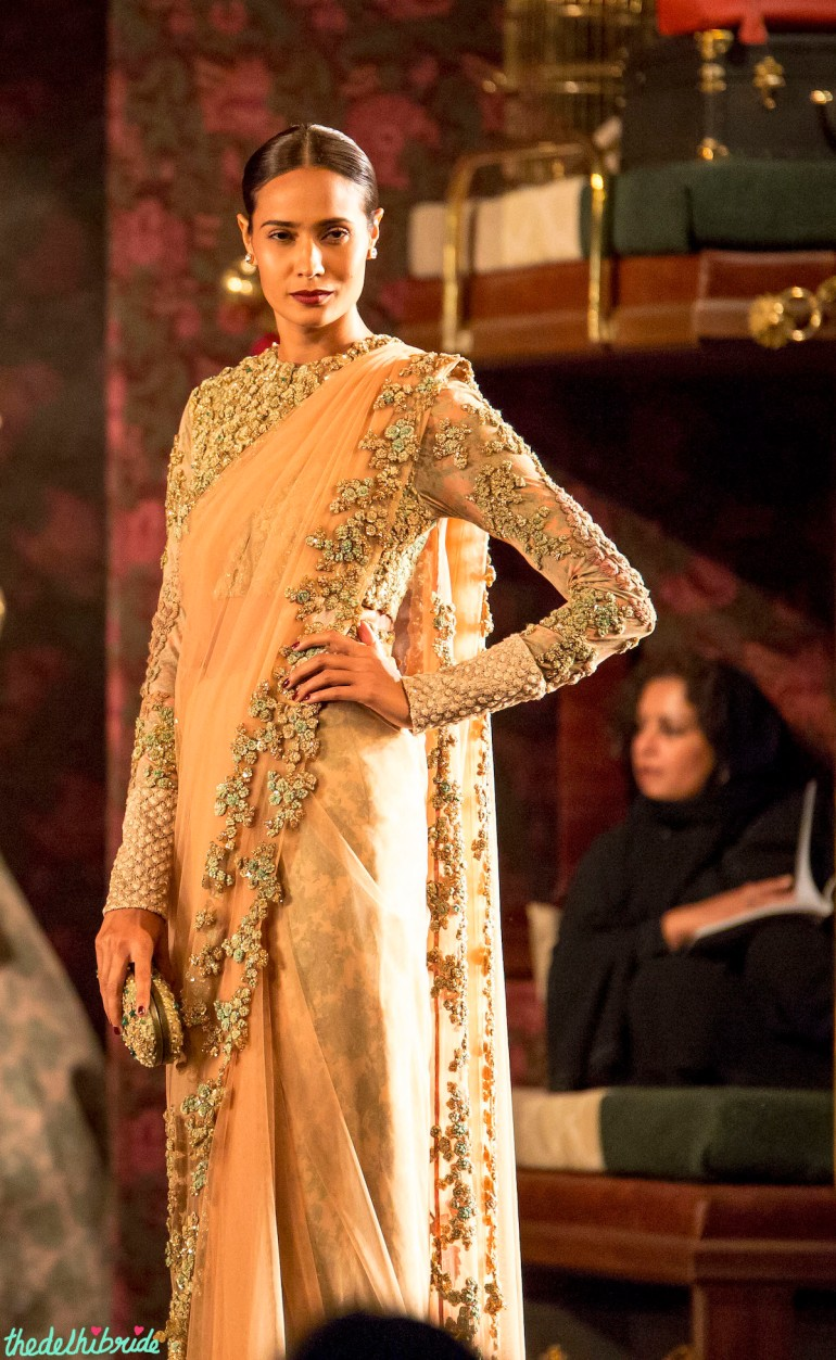 Nude sari heavily embellished blouse 2 Sabyasachi India Couture Week 2014