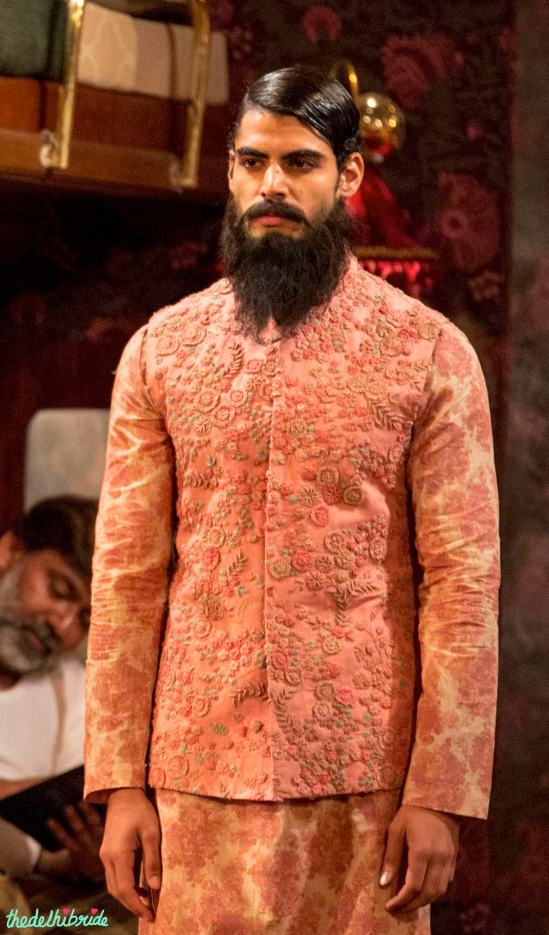 pink nehru jacket Sabyasachi India Couture Week 2014