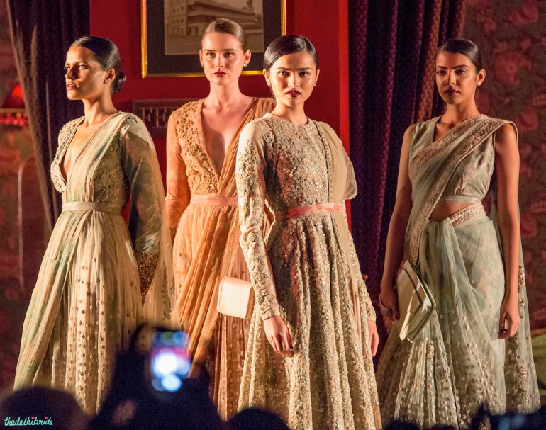 Sabyasachi India Couture Week 2014 pastel ethnic wear