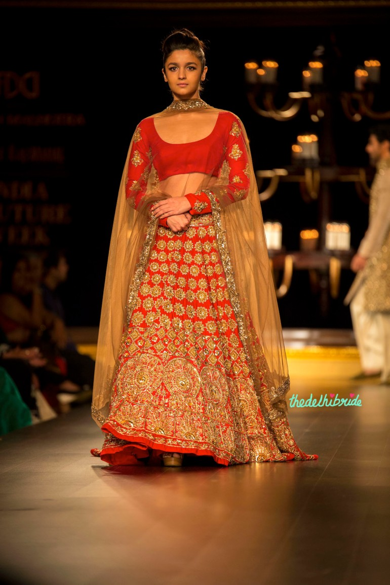 Alia Bhatt 1 Manish Malhotra India Couture Week 2014