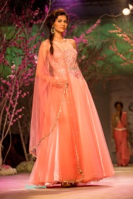 Baby pink anarkali with net dupatta