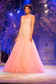 Baby pink net gown