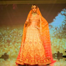bridal ombre lehenga Tarun Tahiliani India Bridal Fashion Week 2014