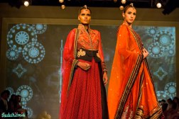 burnt orange lehengas dupattas Tarun Tahiliani India Bridal Fashion Week 2014