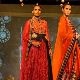 burnt orange lehengas dupattas Tarun Tahiliani India Bridal Fashion Week 2014