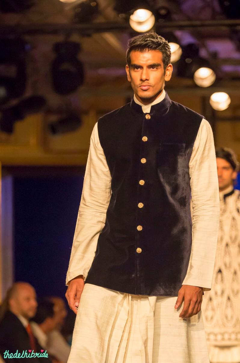 For men - Velvet Nehru jacket Manish Malhotra India Couture Week 2014