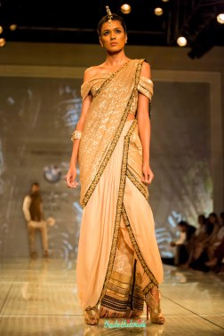 gold dhoti sari Tarun Tahiliani India Bridal Fashion Week 2014