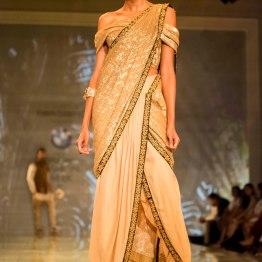 gold dhoti sari Tarun Tahiliani India Bridal Fashion Week 2014