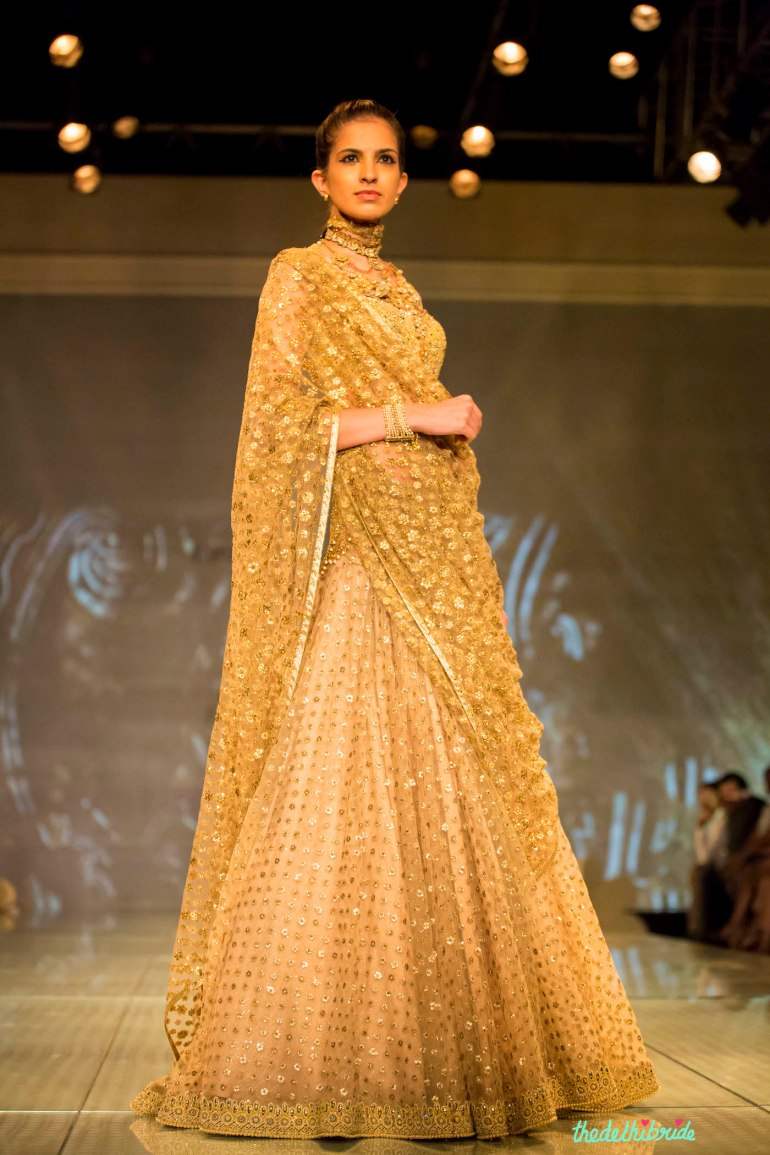 gold lehenga 3 Tarun Tahiliani India Bridal Fashion Week 2014