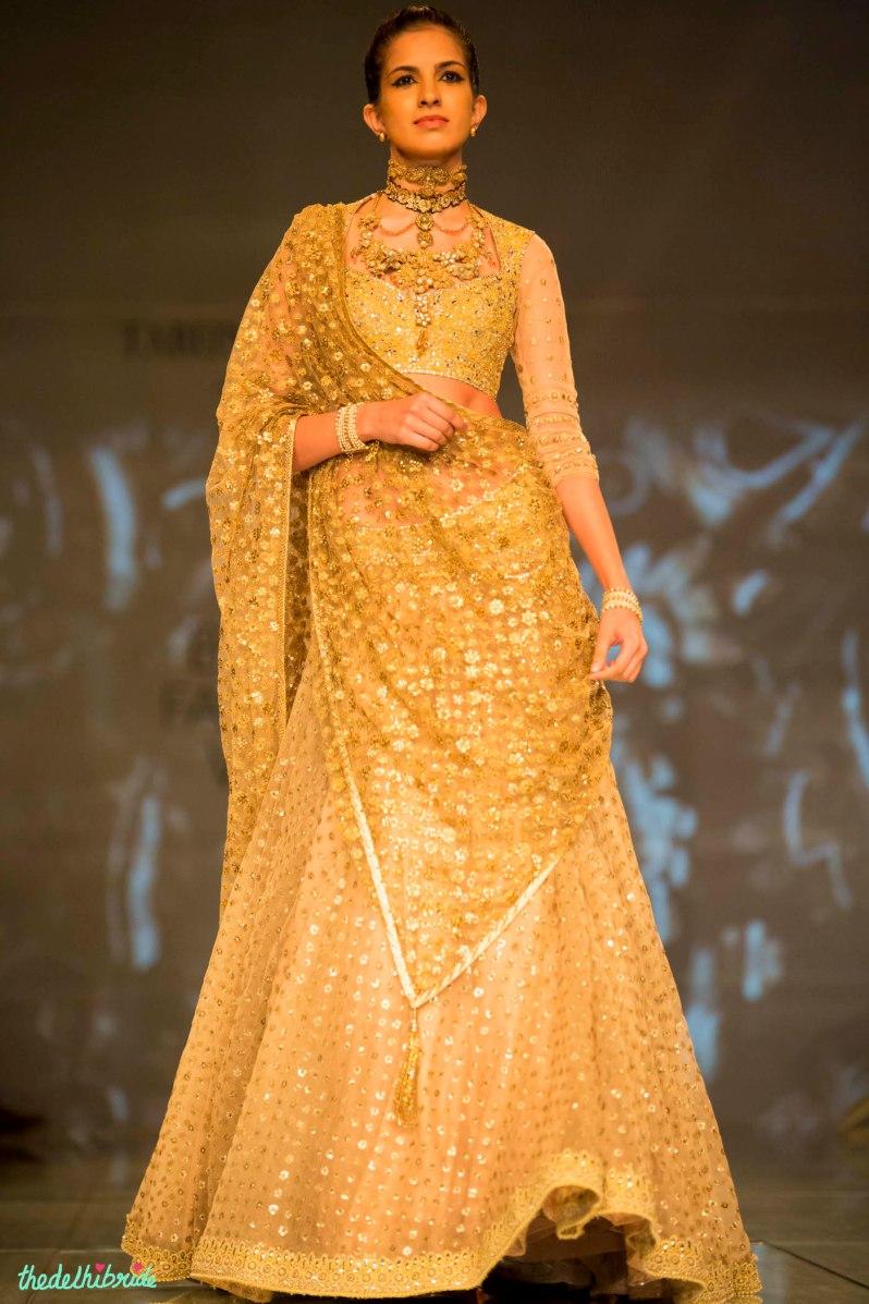 gold lehenga 4 Tarun Tahiliani India Bridal Fashion Week 2014