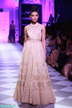 ivory jacket lehenga chanderi skirt Anita Dongre Lakme Fashion Week 2014