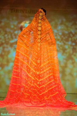 long ombre dupatta trail Tarun Tahiliani India Bridal Fashion Week 2014