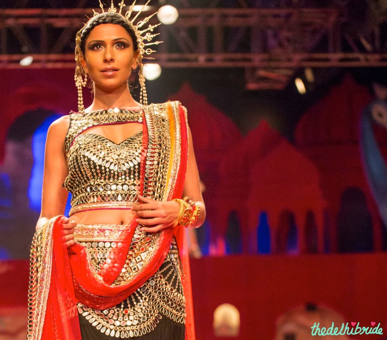 mirror work Suneet Varma India Bridal Fashion Week 2014
