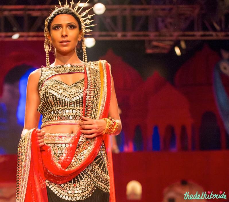 mirror work Suneet Varma India Bridal Fashion Week 2014