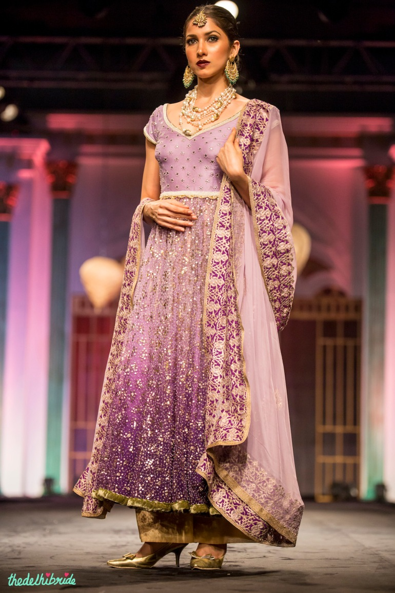 Ombre lilac Meera & Muzaffar Ali India Bridal Fashion Week 2014