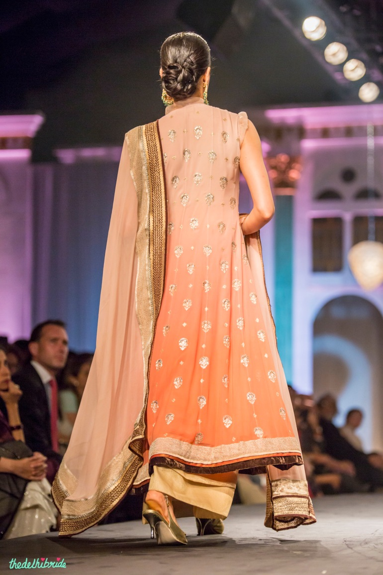 Ombre suit back Meera & Muzaffar Ali India Bridal Fashion Week 2014