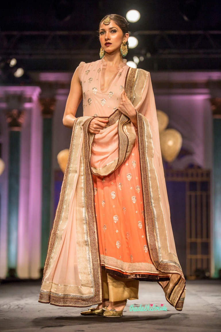 Ombre suit Meera & Muzaffar Ali India Bridal Fashion Week 2014