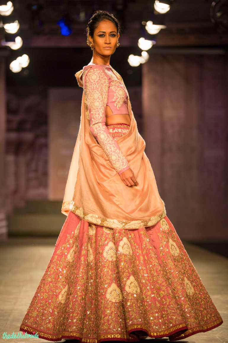 Pastel pink lehenga 2 Anju Modi India Couture Week 2014