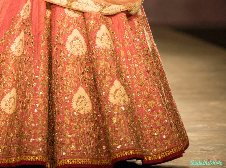 Pastel pink lehenga 3 Anju Modi India Couture Week 2014