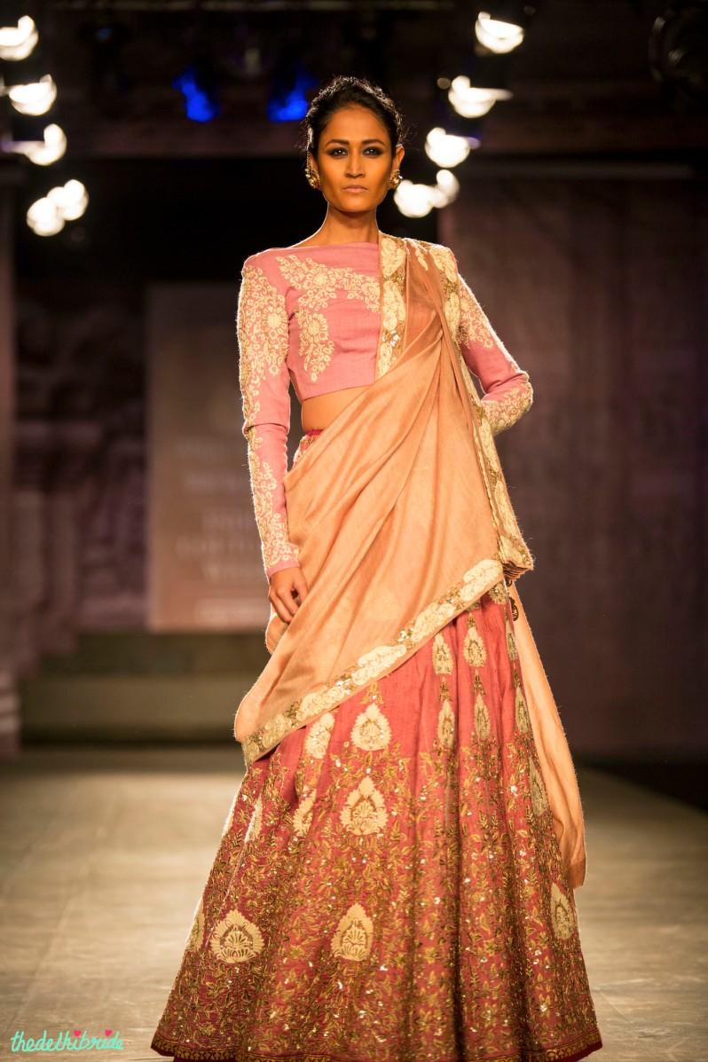 Pastel pink lehenga 4 Anju Modi India Couture Week 2014