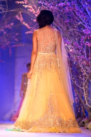 Back of yellow anarkali