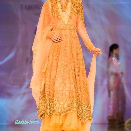 peach anarkali 1 Tarun Tahiliani India Bridal Fashion Week 2014