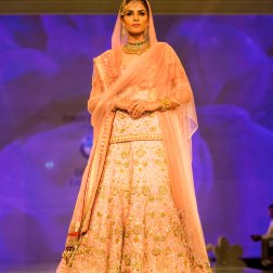 peach lehenga Tarun Tahiliani India Bridal Fashion Week 2014