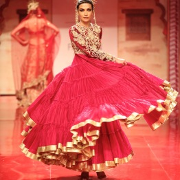 This anarkali is similar to the red one from last year's Suneet Varma show