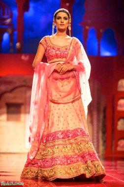 Heavy bridal blush pink lehenga