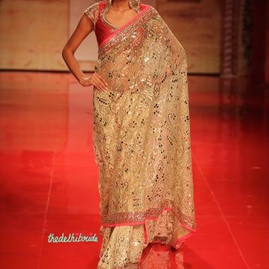 Beautiful mirror work sari