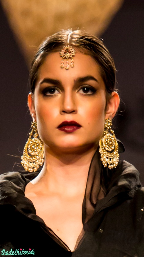 Polki gold earrings Meera & Muzaffar Ali India Bridal Fashion Week 2014